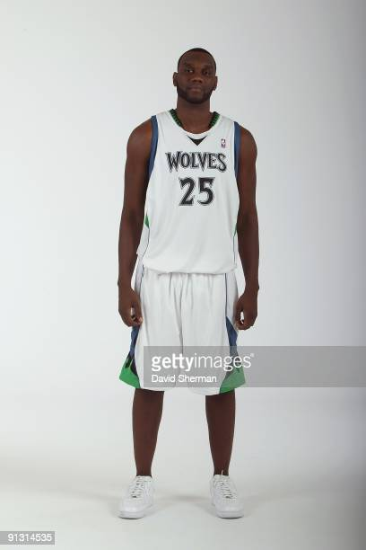 Al Jefferson of the Minnesota Timberwolves poses for a portrait during 2009 NBA Media Day on September 28 2009 at Target Center in Minneapolis...