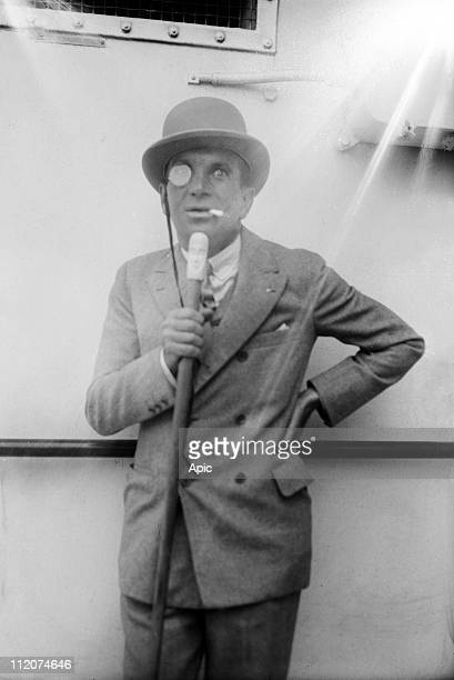 Al Jolson american singer and actor here aboard a liner c 1920