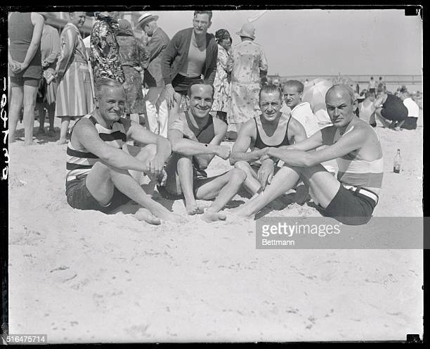 Al Jolson and Others Lounging on Beach