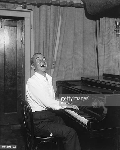 Al Jolson at the piano in typical pose 1927 Photograph