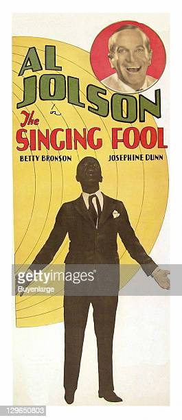 Al Jolson in Black face on a poster that advertises the movie 'The Singing Fool' 1928