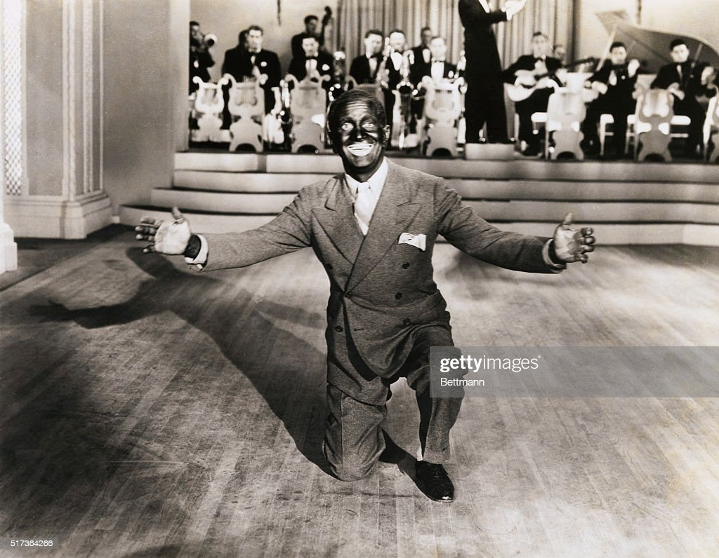 Al Jolson in Blackface Performing with Band