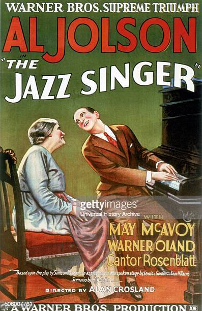 Al Jolson the Jazz Singer with Mary McAvoy a 1927 American musical film