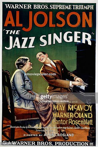 Al Jolson 'the Jazz Singer' with Mary McAvoy a 1927 American musical film
