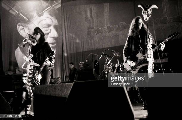 Al Jourgensen Paul Barker Michael Balch and Bill Rieflin perform in Ministry at the Universal Amphitheatre in Los Angeles on December 27 1992 in Los...