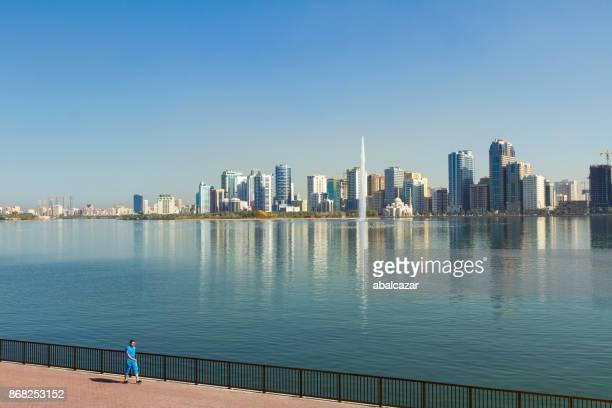 al khalid lake, sharjah, uae - emirate of sharjah stock pictures, royalty-free photos & images
