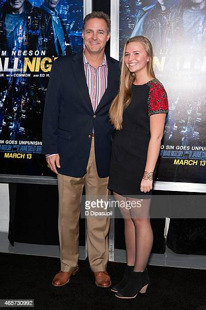 Al Leiter and guest attend the 'Run All Night' New York Premiere at AMC Lincoln Square Theater on March 9 2015 in New York City