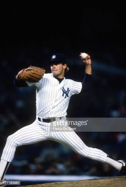 Al Leiter of the New York Yankees pitches during an Major League Baseball game circa 1988 at Yankee Stadium in the Bronx borough of New York City...