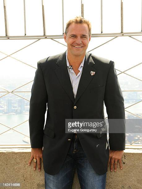 Al Leiter visits The Empire State Building To Celebrate MLB Opening Day at The Empire State Building on April 4 2012 in New York City