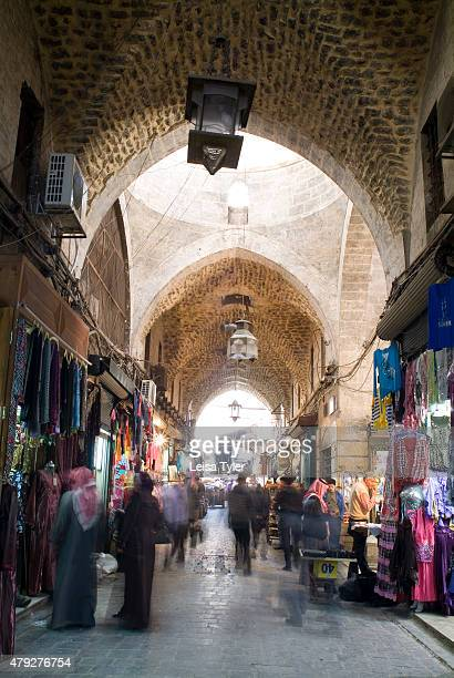 Al Madina Souk in Aleppo Syria before it was largely destroyed during the Syrian civil war Stretching over 12 hectares and dating back to the 13th...