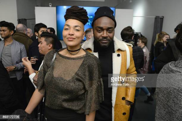 Al Malonga and guest attend Robert Whitman Presents Prince 'Pre Fame' Private Viewing Event Exclusively On Vero on December 14 2017 in New York City