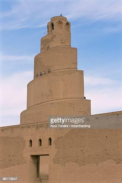 al malwuaiya tower (malwiya tower), samarra, iraq, middle east - samarra iraq stock pictures, royalty-free photos & images