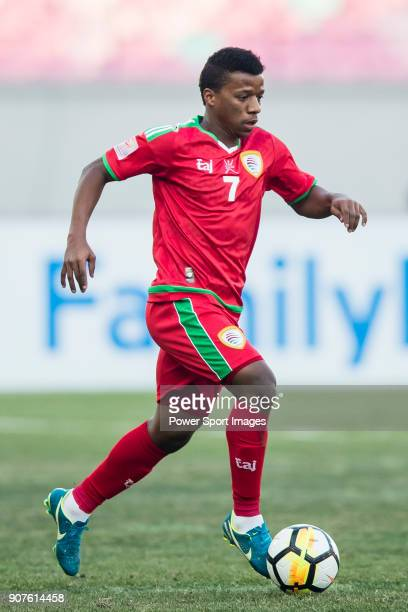 Al Mandhar Al Alawi of Oman in action during the AFC U23 Championship China 2018 Group D match between Uzbekistan and Oman at Jiangyin Stadium on 15...