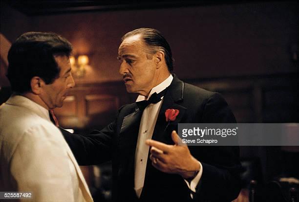 Al Martino and Marlon Brando in a scene from The Godfather