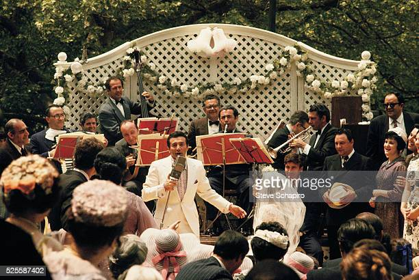 Al Martino singing in a scene from The Godfather
