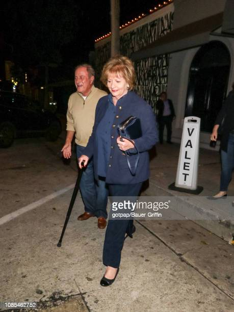 Al Michaels and Linda Anne Stamaton are seen on January 19 2019 in Los Angeles California