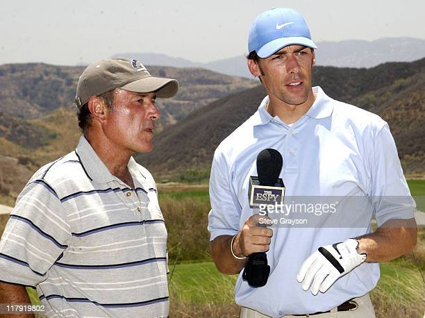 Al Michaels Jason Sehorn during The 2002 ESPY Awards Celebrity Golf Classic at Lost Canyon Golf Club in Simi Valley California United States