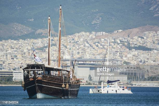 Al Mubaraki Vessel departs from Zeas Marina Piraeus to the port of Corfu island The vessel is doing a twoyear trip to promote the FIFA World Cup 2022...