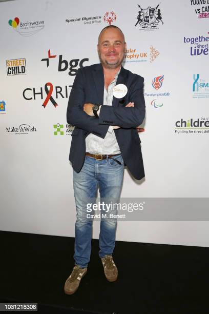 Al Murray representing Muscular Dystrophy UK attends BGC Charity Day at One Churchill Place on September 11 2018 in London England