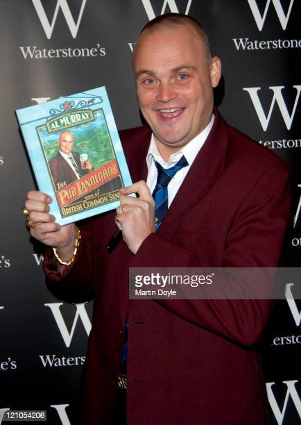 Al Murray signs copies of his new book 'The Pub Landlord's Book of British Common Sense' at Waterstones Leadenhall Market on November 23 2007 in...