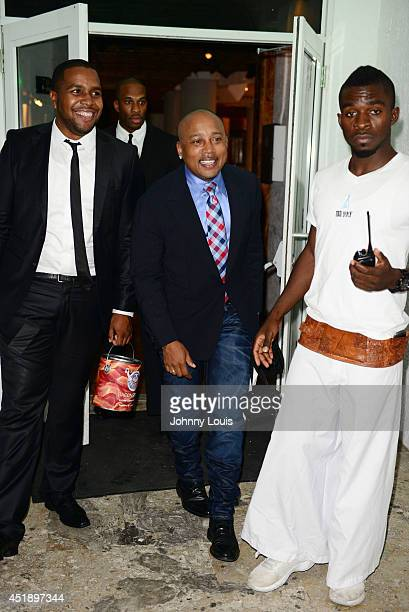 Al Nelson and Daymond John attend Tap The Future event at Nikki Beach on July 8 2014 in Miami Beach Florida