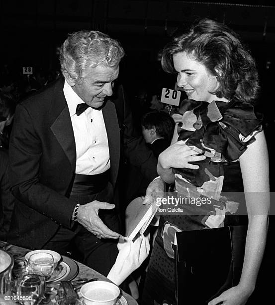 Al Neuharth and Rosamund Neuharth attend 38th Annual Horatio Alger Awards Dinner on May 10 1985 at the Waldorf Hotel in New York City