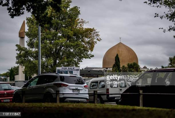 Al Noor mosque is pictured on March 17 2019 in Christchurch New Zealand 50 people are confirmed dead with 36 injured still in hospital following...