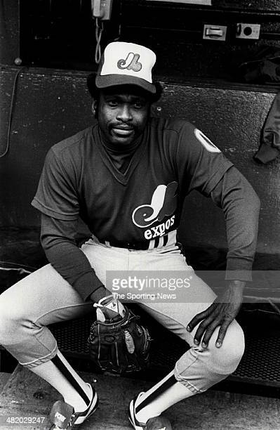 Al Oliver of the Montreal Expos sits in the dugout circa 1980s