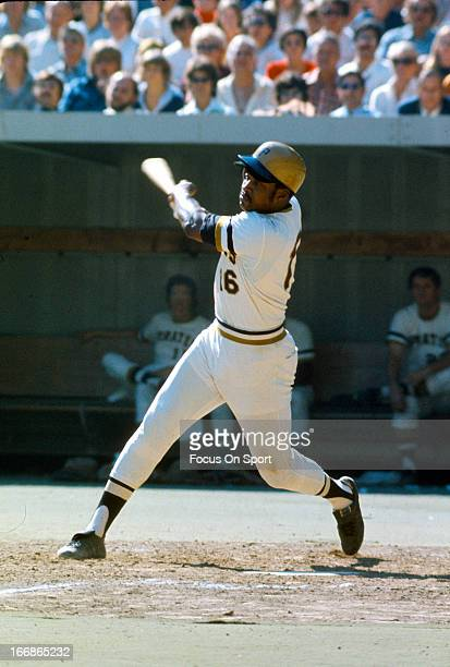 Al Oliver of the PIttsburgh Pirates bats during an Major League Baseball game circa 1970 at Three River Stadium in Pittsburgh Pennsylvania Oliver...