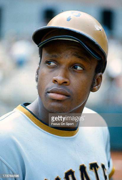 Al Oliver of the PIttsburgh Pirates looks on from the ondeck circle against the Philadelphia Phillies during an Major League Baseball game circa 1972...