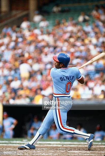 Al Oliver of the Texas Rangers bats against the Baltimore Orioles during an Major League Baseball game circa 1978 at Memorial Stadium in Baltimore...