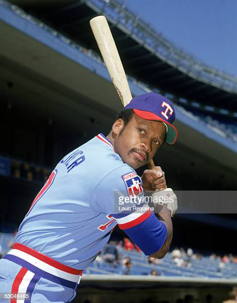 Al Oliver of the Texas Rangers poses before a game at Yankee Stadium in the Bronx New York Al Oliver played for the Texas Rangers from 197881