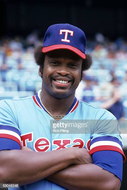 Al Oliver of the Texas Rangers poses for a portrait before a game