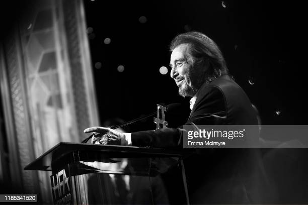 Al Pacino accepts the Hollywood Supporting Actor Award onstage during the 23rd Annual Hollywood Film Awards at The Beverly Hilton Hotel on November...