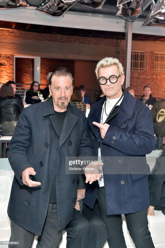 Al Pacino and Billy Idol attend Mr Chow 50 Years on February 16, 2018 in Vernon, California.