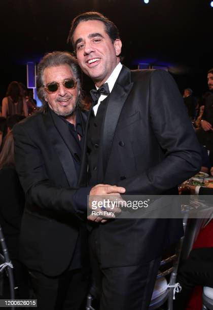 Al Pacino and Bobby Canavale speaks onstage during the 26th Annual Screen Actors Guild Awards at The Shrine Auditorium on January 19 2020 in Los...
