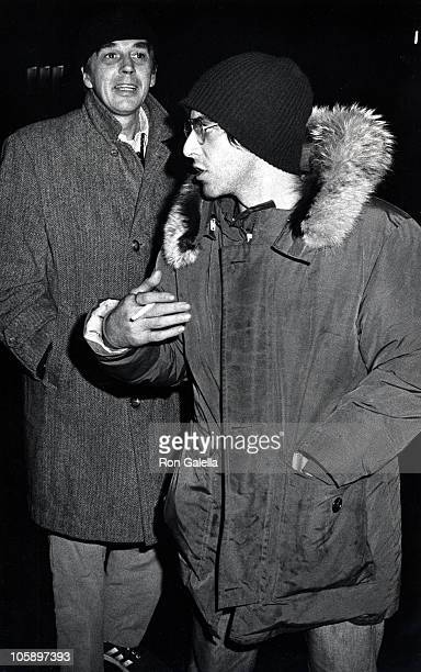 Al Pacino and Charlie Laughton during After Performance of 'A Moon of the Misbegotten' January 2 1974 at Scandia Restaurant in New York City New York...