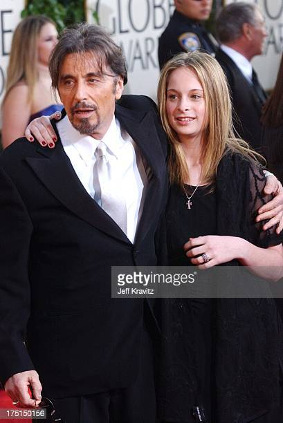 Al Pacino and daughter during The 61st Annual Golden Globe Awards Arrivals at The Beverly Hilton Hotel in Beverly Hills California United States