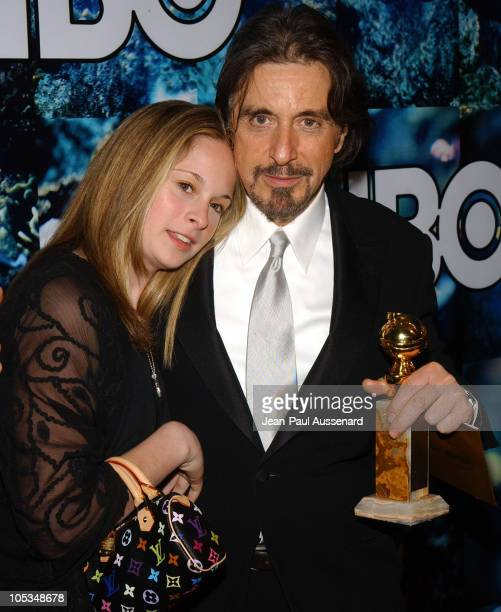 Al Pacino and daughter during The 61st Annual Golden Globe Awards HBO Party at Beverly Hilton in Beverly Hills California United States