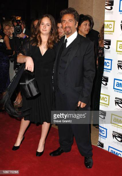 Al Pacino and daughter Julie Pacino during 20th Annual American Cinematheque Award Honoring Al Pacino Arrivals at Beverly Hilton Hotel in Beverly...