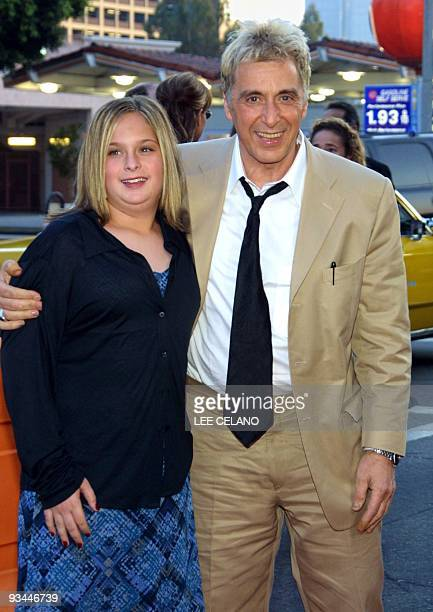 Al Pacino and daughter Kelly arrive for the premiere of the film Simone 13 August 2002 in the Westwood section of Los Angeles AFP PHOTO