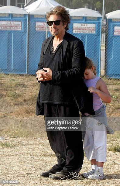 Al Pacino and daughter Olivia Rose are seen at the Malibu Fair on August 31, 2008 in Malibu, California.