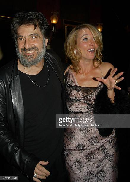 Al Pacino and Emma Thompson get together at the Ziegfeld Theater for a screening of the HBO movie 'Angels in America' They're in the film