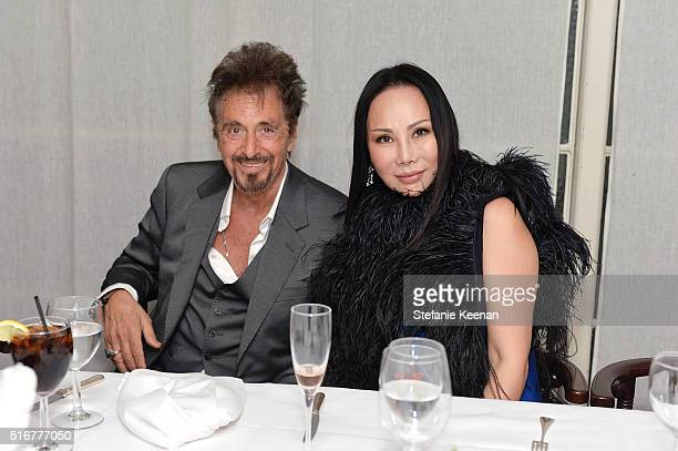 Al Pacino and Eva Chow attend The Daily Front Row Fashion Los Angeles Awards Private Dinner Hosted By Eva Chow And Carine Roitfeld at Mr Chow on...