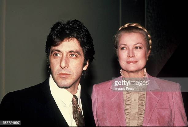 Al Pacino and Grace Kelly circa 1982 in New York City