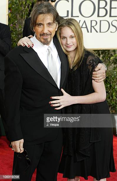 Al Pacino and guest during The 61st Annual Golden Globe Awards Arrivals at The Beverly Hilton in Beverly Hills California United States