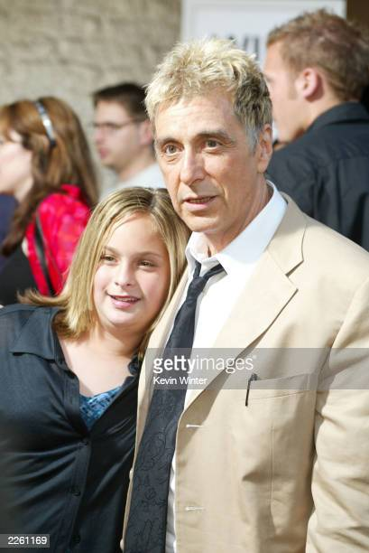 Al Pacino and his daughter Julie at the premiere of Simone at the Mann National Theater and afterparty at Napa Vally restaurant in Westwood Ca...