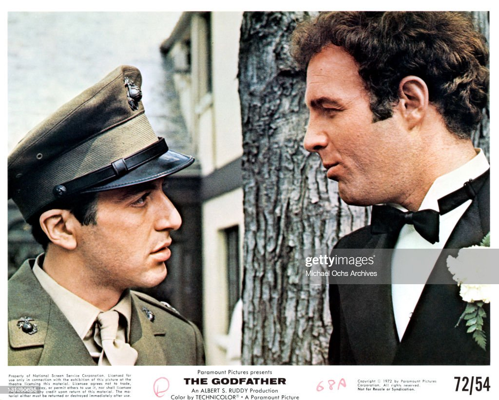 Al Pacino And James Caan In 'The Godfather' : News Photo