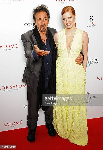 Al Pacino and Jessica Chastain attend a screening of Salome and Wilde Salome at BFI Southbank on September 21 2014 in London England