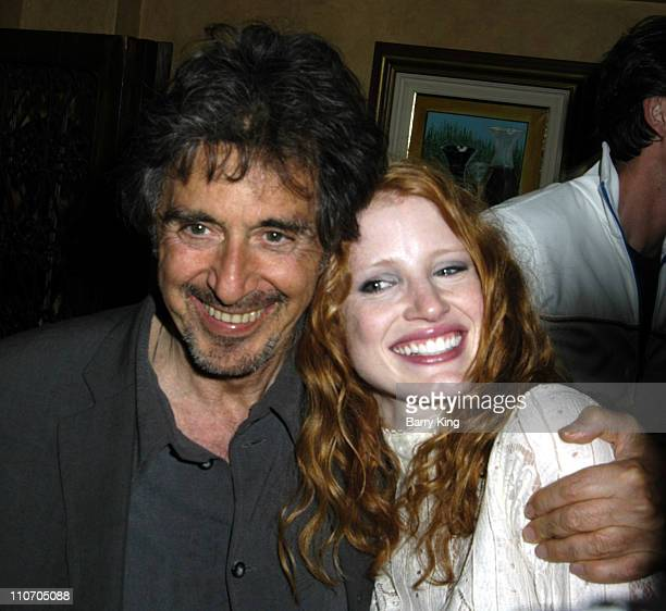 Al Pacino and Jessica Chastain during Venice Magazine Presents Oscar Wilde's 'Salome' Opening Night Party Inside at Tanino in Los Angeles CA United...